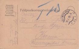 Feldpostkarte - Wien An Krems Reservespital - 1916 (39316) - 1850-1918 Imperium