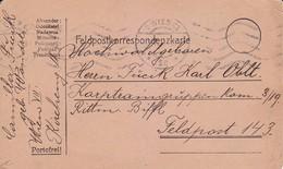 Feldpostkarte - Wien An Korpstraingruppen Kom. 3/19 - 1915 (39318) - 1850-1918 Imperium
