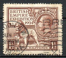 GRANDE BRETAGNE - 1924 - N° 172 - 1 1/2 D. Brun - (Exposition De L'Empire Britannique à Wembley) - 1902-1951 (Re)