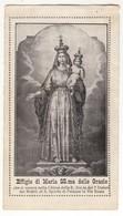 Santino Antico Madonna Delle Grazie Da Napoli - Religion & Esotericism