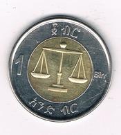 1 BIRR ETHIOPIE /1066/ - Ethiopie