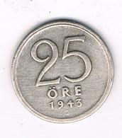 25 ORE  1943  ZWEDEN /1068/ - Suède