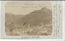 34 SAINT-GERVAIS-SUR-MARE . Carte-Photo Du Village Au Pied De La Montagne , écrite En 1903 , état Extra - France