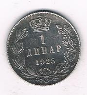 1 DINAR  1925 SERVIE /1069/ - Serbie