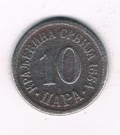 10 PARA 1884 SERVIE /1070/ - Serbie