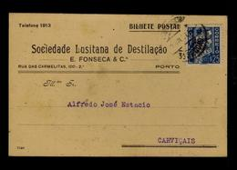 Soc. LUSITANA DESTILAÇÃO 1937 Pmk RARE Publicitary Postcard Wines Boissons Porto Portugal Sp1773 - Vins & Alcools