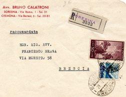 LETTERA   ANNULLO     SORESINA   CREMONA - 6. 1946-.. Repubblica