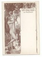 CP Fantaisie Les Cinq Sens  Le Toucher - Femme Art Nouveau - 10/15 Cm - Garelli - Fantaisies