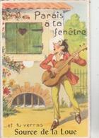 """CPM Humoristiques - 10 Vues Dépliantes - """" Parais à Ta Fenêtre ... Et Tu Verras Source De La Loue."""" - Non Classés"""