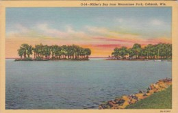 Wisconsin Oshkosh Miller's Bay From Menominee Park Curteich - Oshkosh