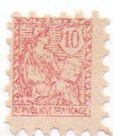 Poste Enfantine 10 Centimes Rouge Type Mouchon - (timbre) - Altri