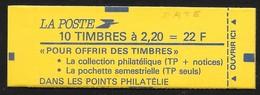 """Carnet 2376-C8 Daté 29.5.89 Liberté 2,20 Rouge Couverture """"Faites De La Musique"""" Conf 9 - Carnets"""
