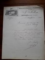 L15/11 Lettre Ancienne. Minoterie à Cylindres Et Plansichters. Massilly Par Cluny. A.Millon. 1901 - France