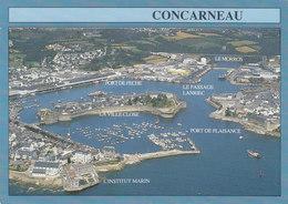 29 Concarneau Vue Générale Sur Le Port Et La Ville Close (2 Scans) - Concarneau