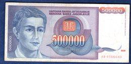 JUGOSLAVIA   500000  DINARI   1993   CIRCOLATO - Yougoslavie