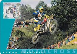HAKAN CARLQVIST-MOTOCROSS-MAXIMUM CARD, STOCKHOLM 2002-TBE MOTORBIKE- BLEUP - Moto