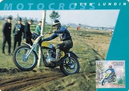 STEN LUNDIN-MOTOCROSS-MAXIMUM CARD, STOCKHOLM 2002-TBE MOTORBIKE- BLEUP - Moto