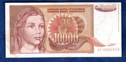JUGOSLAVIA   10000  DINARI   1992  CIRCOLATO - Yougoslavie
