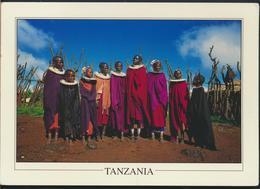 °°° GF607 - TANZANIA - MAASAI CHILDREN DANCING , NGORONGORO CRATER - 2006 With Stamps °°° - Tanzania
