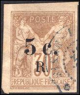 Reunion 1885-86 5c On 30c Cinnamon Fine Used. - Reunion Island (1852-1975)