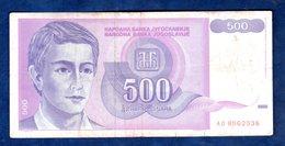 JUGOSLAVIA   500  DINARI   1992  CIRCOLATO - Yougoslavie