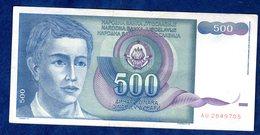 JUGOSLAVIA   500  DINARI   1990  CIRCOLATO - Yougoslavie