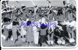107267 PARAGUAY COSTUMES NATIVE INDIOS TRIBU POSTAL POSTCARD - Paraguay