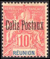 Reunion 1906 10c Parcel Post Fine Used. - Reunion Island (1852-1975)