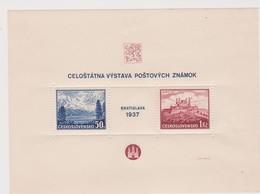 Czechoslovakia Scott 239 1937 Bratislava Philatelic Exhibition Souvenir Sheet.mint Hinged - Czechoslovakia