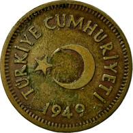 Monnaie, Turquie, 10 Kurus, 1949, TB, Laiton, KM:888 - Turquie
