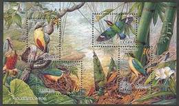 Taiwan 2006 Bird S/s Fairy Pitta Bamboo Fauna Mushroom Flower Flora Resident Butterfly Dragonfly - Unused Stamps