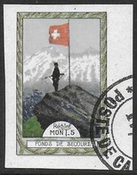 Suisse WWI Vignette Militaire Soldatenmarken 1. DIVISION 1914-18 VF Used - Vignettes