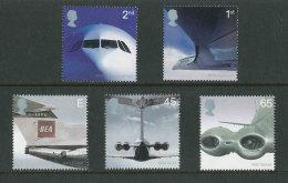 GRANDE-BRETAGNE - 2002 - Yvert  2328/2332 - NEUFS ** Luxe MNH - Série Complète 5 Valeurs - Aviation - Ongebruikt