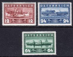 AUSTRIA - 1937 DANUBE NAVIGATION ANNIVERSARY SET (3V) FINE MINT MM * SG805-807 - 1918-1945 1st Republic