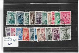1690c: Österreich 1958, Trachten Weiß O Komplett - 1945-60 Oblitérés