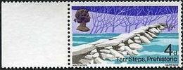 GREAT BRITAIN 1968 Bridges 4d MARG. ERROR:Print On Reverse Gum Tarr Steps Prehistoric - Prehistory