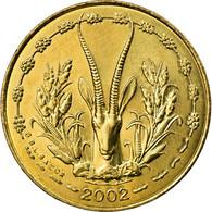 Monnaie, West African States, 5 Francs, 2002, SUP, Aluminum-Nickel-Bronze, KM:2a - Côte-d'Ivoire