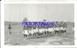 107308 PARAGUAY ALTO PARANA COSTUMES NATIVE INDIOS DANCER PHOTO NO POSTAL POSTCARD - Paraguay