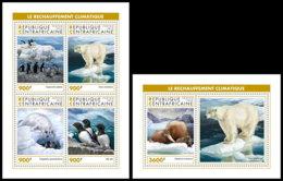 CENTRAL AFRICA 2018 MNH Antarctic Animals Tiere Der Antarktis Animaux De Antarctique M/S+S/S - OFFICIAL ISSUE - DH1905 - Faune Antarctique
