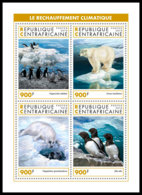 CENTRAL AFRICA 2018 MNH Antarctic Animals Tiere Der Antarktis Animaux De Antarctique M/S - OFFICIAL ISSUE - DH1905 - Faune Antarctique