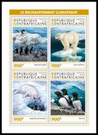 CENTRAL AFRICA 2018 MNH Antarctic Animals Tiere Der Antarktis Animaux De Antarctique M/S - IMPERFORATED - DH1905 - Faune Antarctique