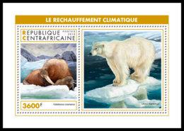 CENTRAL AFRICA 2018 MNH Arctic Animals Tiere Der Arktis Animaux De Arctique S/S - IMPERFORATED - DH1905 - Faune Arctique