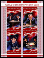 SIERRA LEONE 2018 MNH World Championship 2018 Chess Schach Echecs M/S - OFFICIAL ISSUE - DH1905 - Echecs