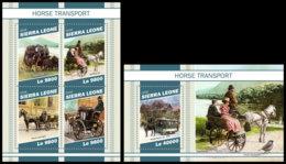 SIERRA LEONE 2018 MNH Horse Transports Pferdekutschen Chevaux Caleches M/S+S/S - OFFICIAL ISSUE - DH1905 - Diligences