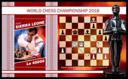 SIERRA LEONE 2018 MNH World Championship 2018 Chess Schach Echecs S/S - OFFICIAL ISSUE - DH1905 - Echecs