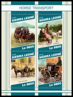 SIERRA LEONE 2018 MNH Horse Transports Pferdekutschen Chevaux Caleches M/S - OFFICIAL ISSUE - DH1905 - Diligences