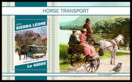 SIERRA LEONE 2018 MNH Horse Transports Pferdekutschen Chevaux Caleches S/S - OFFICIAL ISSUE - DH1905 - Diligences
