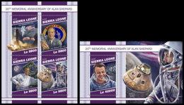 SIERRA LEONE 2018 MNH Alan Shepard Apollo 14 Space Raumfahrt Espace M/S+S/S - OFFICIAL ISSUE - DH1905 - Space