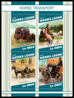 SIERRA LEONE 2018 MNH Horse Transports Pferdekutschen Chevaux Caleches M/S - IMPERFORATED - DH1905 - Diligences