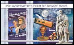 SIERRA LEONE 2018 MNH 1st Reflecting Telescope Spiegelteleskop Telescope A Reflexion S/S - IMPERFORATED - DH1905 - Astronomie